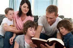 Father teaching bible