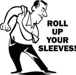 roll up your sleeves